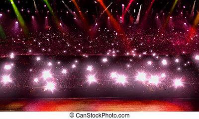 rouges, concert, lumière