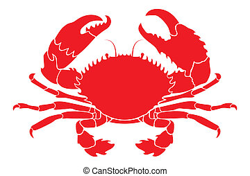 rouges, crabe