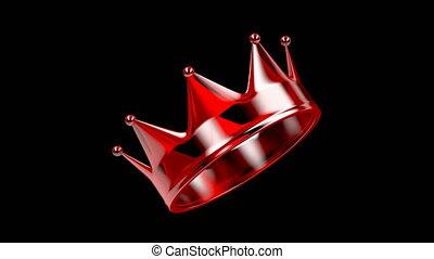 rouges, cristal, couronne