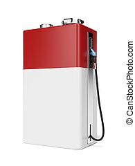 rouges, essence, batterie, station