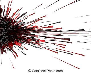 rouges, explosion, 3d, résumé
