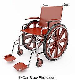 rouges, fauteuil roulant