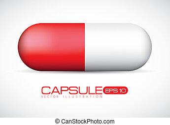 rouges, illustration, capsule