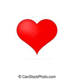 rouges, illustration., coeur