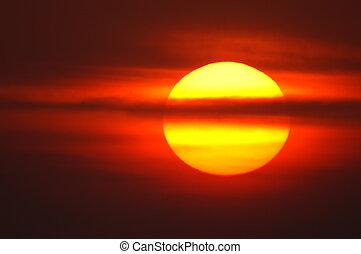 rouges, levers de soleil