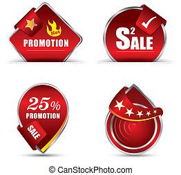rouges, promotion, étiquette