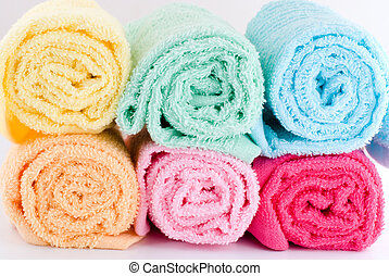 roulé, serviettes