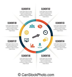 rouler, cercle, infographic
