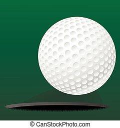 rouler, trou, balle, golf