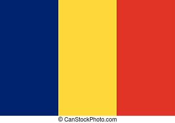 roumanie, color), pays, drapeau national, jaune, (blue, rouges