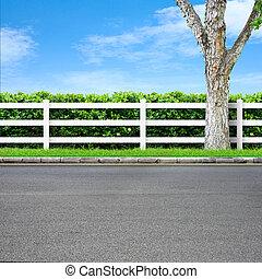 route, barrière