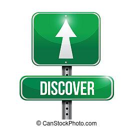route, conception, découvrir, illustration, signe