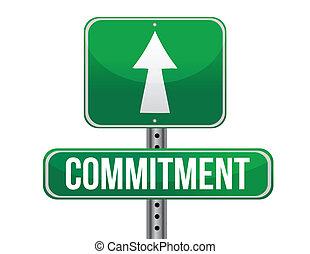 route, conception, engagement, illustration, signe