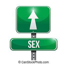 route, conception, illustration, signe