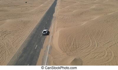 route, conduite, sport, désert, voiture