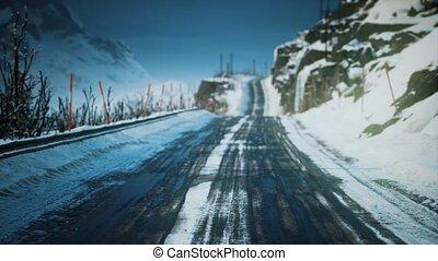 route, hiver, lofoten, îles