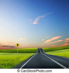 route, horizon