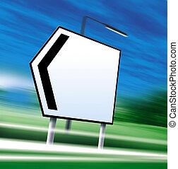route, illustration, signe