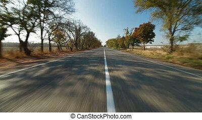 route, pays, long, conduite