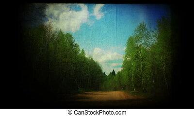 route pays, vendange, chronocinématographie