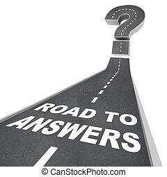 route, rue, -, mots, réponses
