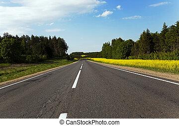 route, rural, canola