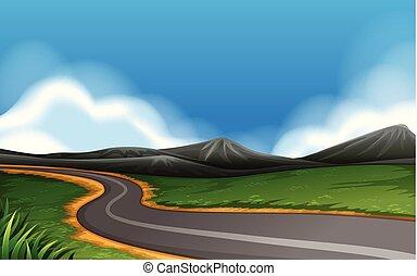 route rurale, paysage