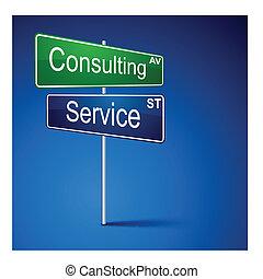 route, service, direction, signe., consultant