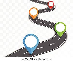 route, transparent, fond
