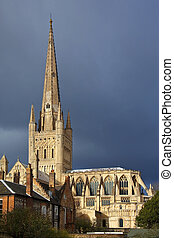 royaume, cathédrale, uni, -, norwich