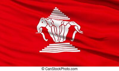 royaume, drapeau, laos