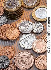 royaume, pièces, -, uni, britannique