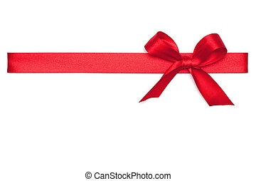 ruban, cravate rouge