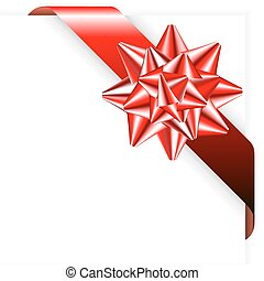 ruban rouge, arc