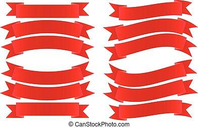 ruban rouge, bannière