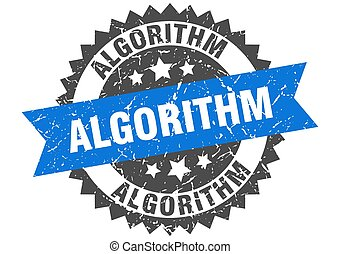ruban, signe, stamp., grunge, rond, algorithm