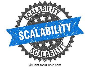 ruban, signe, stamp., grunge, rond, scalability