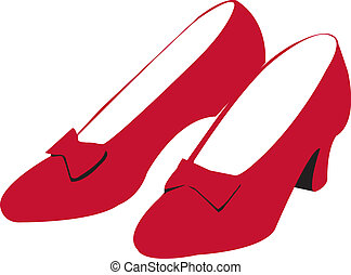 rubis, chaussures, rouges