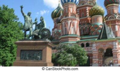 rue., cathédrale, monument, basil's