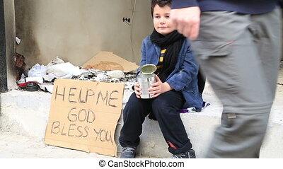 rue, mendiant, sdf, enfant