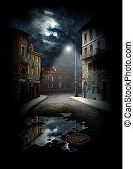 rue, nuit