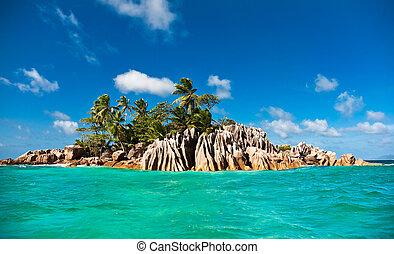 rue., seychelles, pierre, île