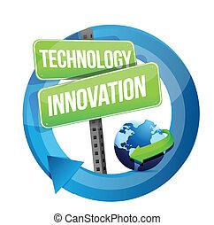 rue, technologie, innovation, signe