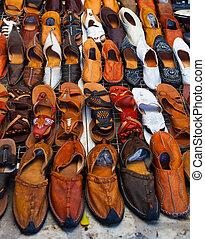 rue, tunisien, chaussures, vente