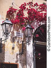 rues, détails, rome
