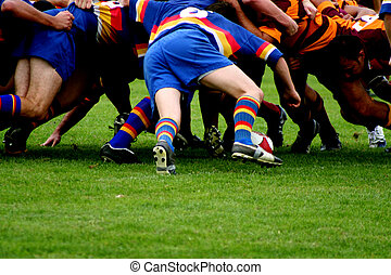 rugby, scrum