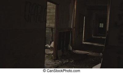 ruine, décrépit, couloir, humide, lurch