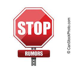 rumeurs, arrêt, illustration, signe, conception, route