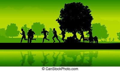 runners., marathon