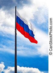 russe, drapeau ondulant